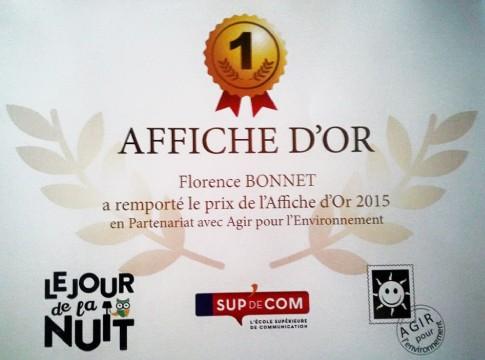 1er Prix AFFICHE OR